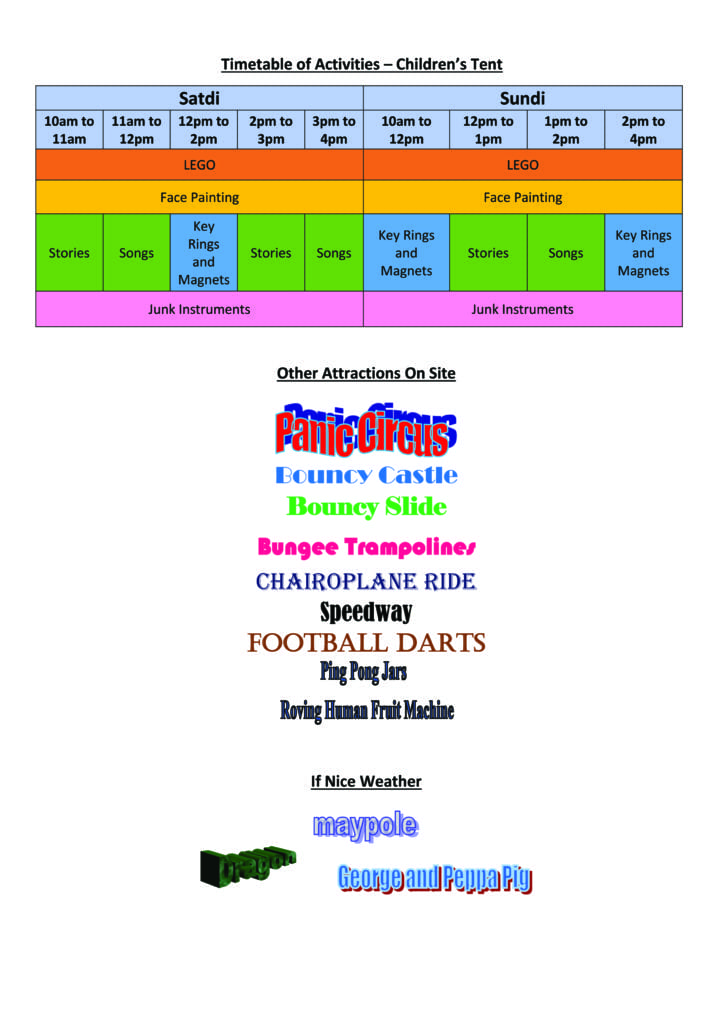 Childrens Timetable of Events copy